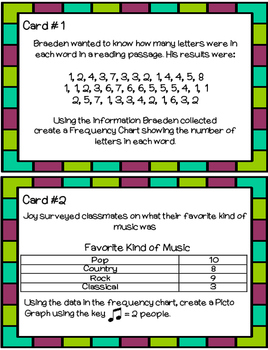 Data and Probability Task Cards