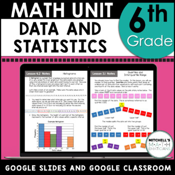 6th Grade Math Data and Statistics Curriculum Unit 7 Using Google