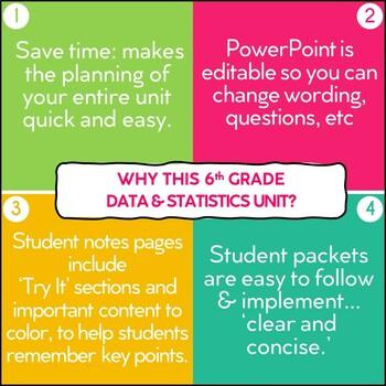 Data and Statistics Unit for Grade 6