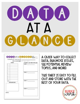 Data at a Glance: Tracking Sheet