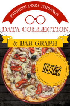 Bar Graph: Data collection, analysis and graphing favorite pizza toppings
