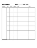Data collection sheets