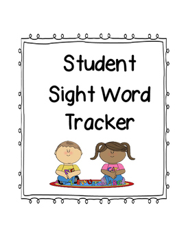 Kindergarten student sight word tracker freebie