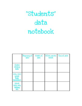 Data notebook pages