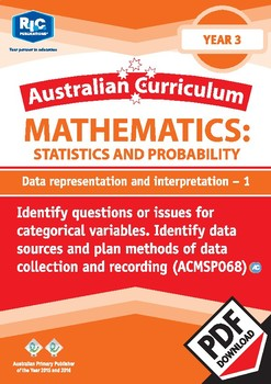Data representation and interpretation 1 – Year 3