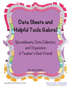 Data sheets, record keeping, data/behavior tracking, & mor