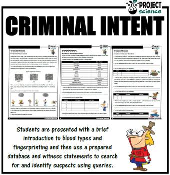 Database Activity - Criminal Intent