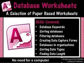 Databases Worksheets (Microsoft Access)