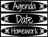 Date, Agenda, Homework, and Lesson Target Labels