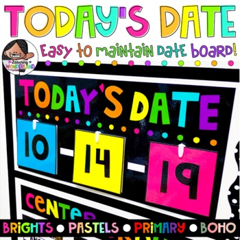Date Board | Neons | Pastels | Primary Colors