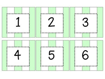 Date Cards - Green and White Stripes