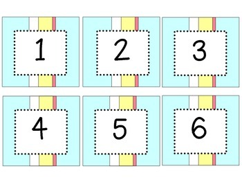 Date Cards - Stripes
