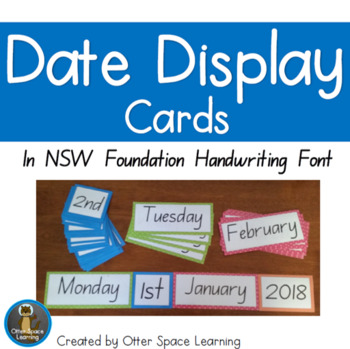 Nsw foundation handwriting teaching resources teachers pay teachers date display cards nsw foundation handwriting font fandeluxe Choice Image