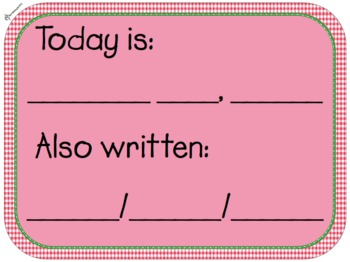 Date: Today is + Also Written