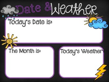 Date and Weather Classroom Display
