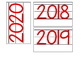 Date for Board or Calendar (Red)