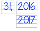Date for Board or Calendar (Blue)