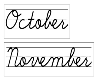 Date for Board or Calendar (Cursive)