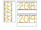 Date for Board or Calendar (Gold)
