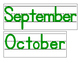 Date for Board or Calendar (Green)