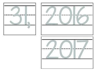 Date for Board or Calendar (Grey)