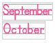 Date for Board or Calendar (Hot Pink)