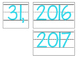 Date for Board or Calendar (Light Blue)