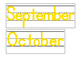 Date for Board or Calendar (Yellow)