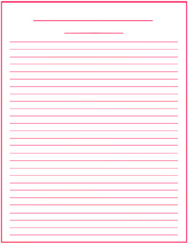 Dated and Undated Blank Writing Templates