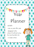 Dateless day planner book with extras editable