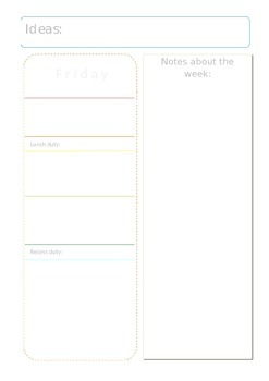 Dateless day planner with extras - editable {free}