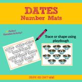 Dates Playdough Number Mat - Ramadan activities