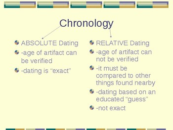 Dating Artifacts