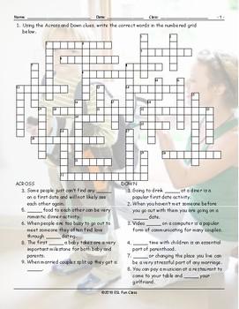 Dating-Marriage-Milestones Crossword Puzzle
