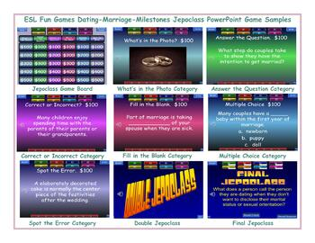 Dating-Marriage-Milestones Jeopardy PowerPoint Game