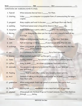 Dating-Marriage-Milestones Study Worksheet