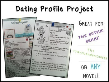 Dating Profile Project for any Genre or Novel Study
