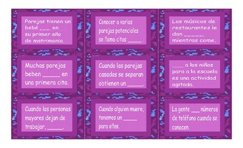 Dating and Marriage Spanish Card Game