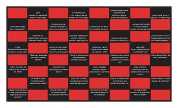 Dating and Marriage Spanish Checker Board Game