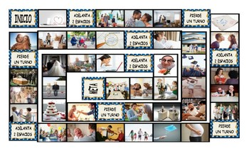 Dating and Marriage Spanish Legal Size Photo Board Game