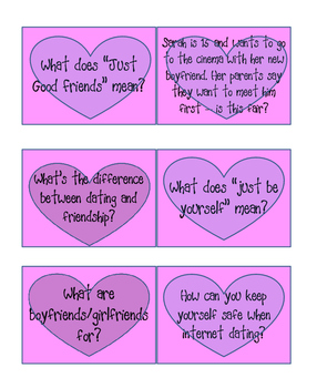 Dating discussion cards