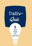 Dativ-Quiz (German) - The Dative case Quiz