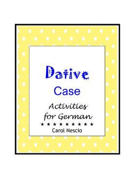 Dative * Case Activities For German