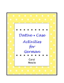 Dative * Case Activities For German