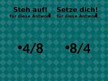 Datum (Date in German) Steh auf Setze dich