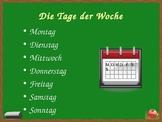 Datum (Date in German) powerpoint