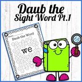 Daub the sight word