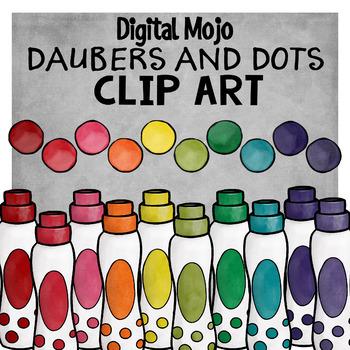Dot Marker Clipart (dobber / dauber)