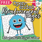 Speech Therapy FREE Magnetic Chip Pages / Dauber Pages / Reinforcement Pages