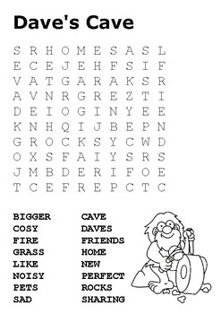 Dave's Cave Word Search